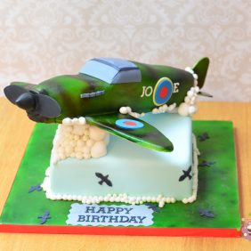 Spitfire birthday cake