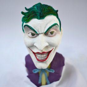 Classic Batman bust cake