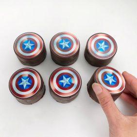 Avengers mini cakes